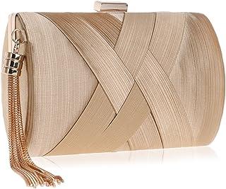 ShowYeu Damen Clutch Tasche Abendtasche Brauttasche Hochzeit Clutch Bag Elegante Handtasche