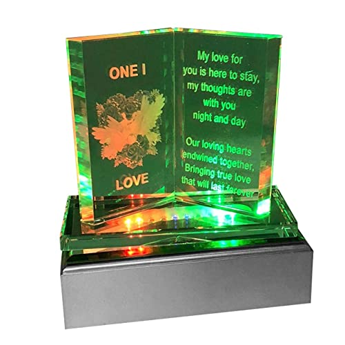 SAFRI Led Lights One I Love Gift Ideal For Girlfriend Boyfriend Husband Wife Her Him Fiance