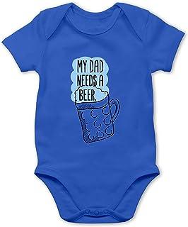 Shirtracer Oktoberfest & Wiesn Baby - My dad Needs a Beer - Baby Body Kurzarm für Jungen und Mädchen