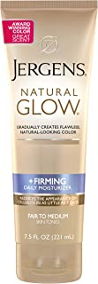 Jergens Natural Glow +FIRMING Body Lotion, Fair to Medium Skin Tone, 7.5 Ounce Sunless..