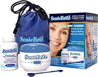 SonicBrite Dental Cleaning System Plus Free Measuring Scoop and Plush Travel Bag