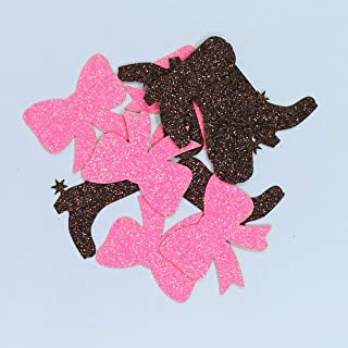 100 Counts Gender Reveal Boots or Bow Table Confetti/Paper Scatter for Baby Shower Party