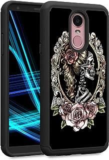 LG Stylo 4 Case, LG Stylo 4 Plus Case, Spsun Dual Layer Hybrid Hard Protector Cover Anti-Drop TPU Bumper for LG Stylo4 / LG Stylo4 Plus,Skull Rose