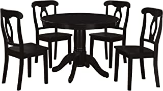 Aubrey 5 piece Traditional Height Pedestal Dining Set