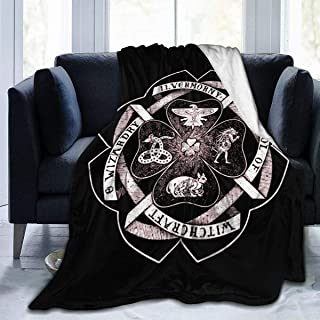 JXXO Ilvermorny School of Witchcraft and Wizardry Crest Plush Blanket Printed Ultra-Soft Micro Fleece Blanket for Couch Bed Living Room.