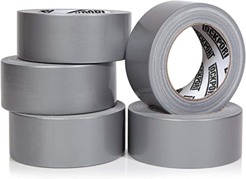 Heavy Duty Silver Duct Tape - 5 Roll Multi Pack Industrial Lot – 30 Yards x 2 inch Wide – Large Bulk Value Pack of Gr...