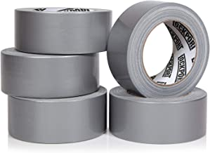 Heavy Duty Silver Duct Tape - 5 Roll Multi Pack Industrial Lot – 30 Yards x 2 inch Wide – Large Bulk Value Pack of Grey Or...