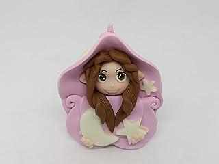 Folletta Gnomo elfo Dolce Notte rosa idea regalo Handmade personalizzabile con il nome. SI ILLUMINA AL BUIO. Made in Italy...