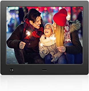 Flyamapirit Digital Picture Frame 8 inch Electronic Digital Photo Frame with High Resolution 1024x768 IPS LCD and Motion Sensor/1080P 720P Video Player/Calendar/Clock/Best for Gift