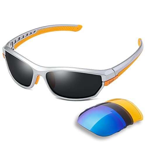 697c4a55040 DUCO Polarised Sports Mens Sunglasses for Ski Driving Golf Running Cycling  Tr90 Superlight Frame With 3