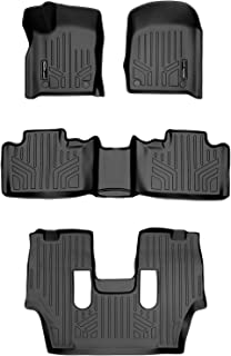 MAXLINER Floor Mats 3 Row Liner Set Black for 2016-2021 Dodge Durango with 2nd Row Bucket Seats
