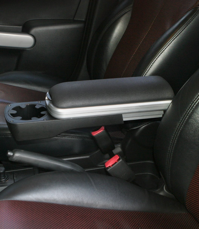 2008-2015 Scion xD Black Boomerang Center Console Armrest