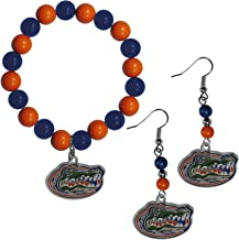 Siskiyou Women's N. Carolina Tar Heels Fan Bead Earrings and Bracelet Set