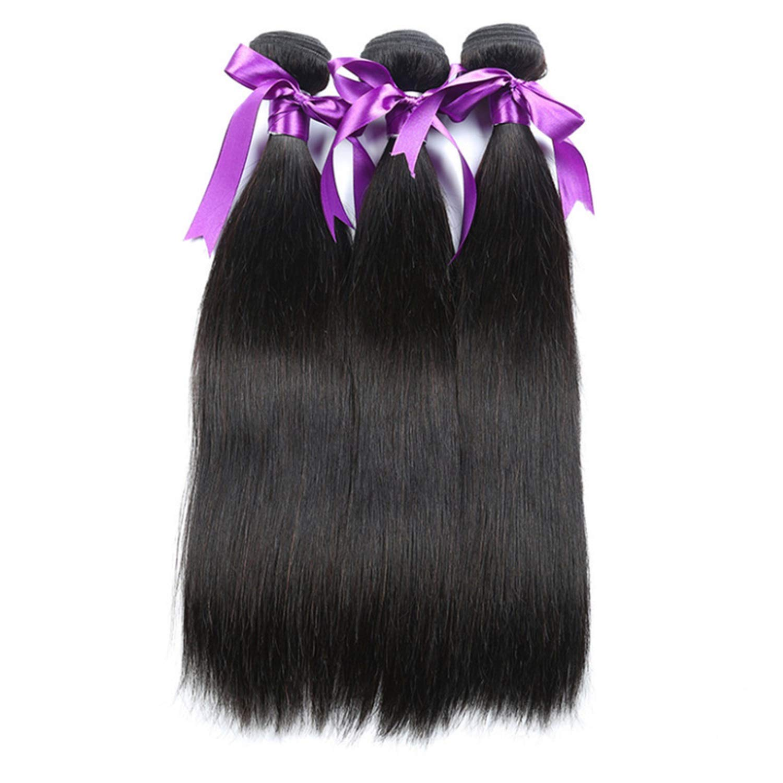 Black Long Wig Hair malaysian Bun straight Human 3 Houston Mall Ranking TOP20 Pcs