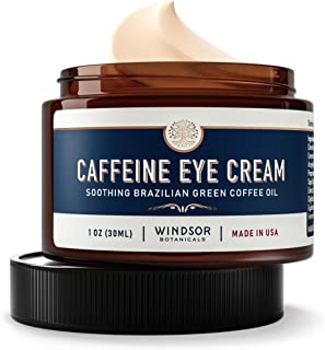 Anti-Aging Caffeine Eye Cream - Windsor Botanicals Age-Defying AHA Formula - Moisturizes, Reduces Wrinkles, Dark Circles a...