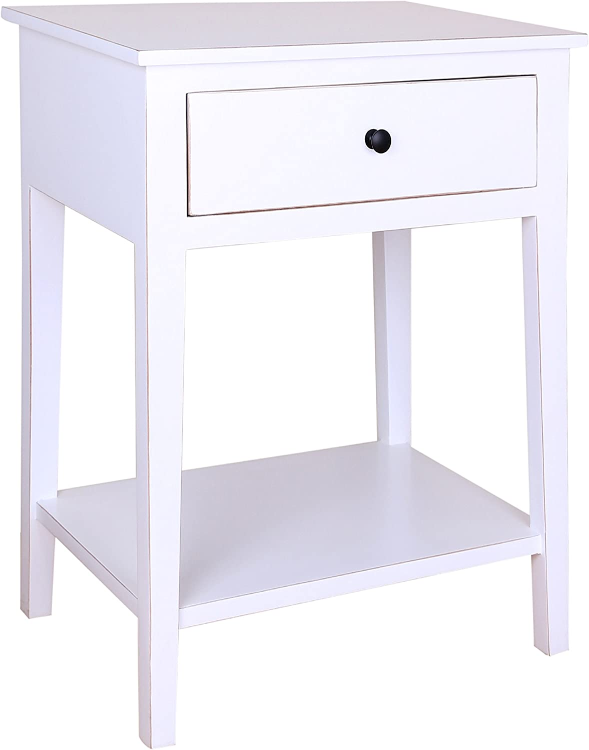 Porthos Home Shelby Single Drawer Side Table, White