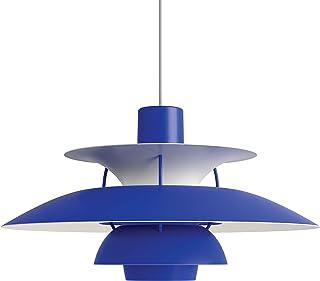 PH 5, Louis Poulsen, Lámpara de Suspensión Diseñada por Poul Henningsen (Azul Monocromático)