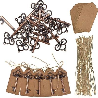 Looen Set of 50/5/2 Wedding Favors Skeleton Key...