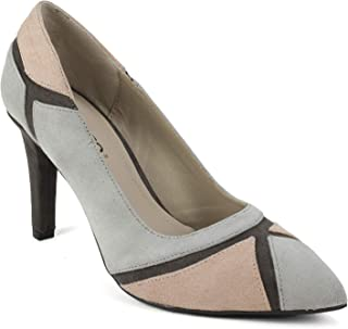 RIALTO Womens Morgan Fabric Pointed Toe Classic Pumps, Grey, Size 5.0