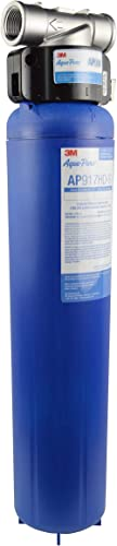 3M Aqua-Pure Whole House Sanitary Quick Change Water Filter System AP904, Reduces Sediment, Chlorine Taste and Odor, ...