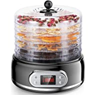 ELECHOMES Food Dehydrator... ELECHOMES Food Dehydrator Machine, 6 Trays Fruit Vegetable Nuts Dryer, Digital Thermostat Preset...