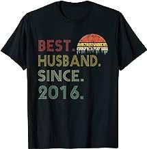 Mens 3rd Wedding Anniversary Gift Best Husband Since 2016 Tshirt