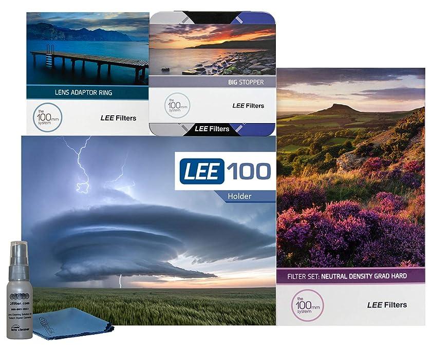 LEE Filters LEE100 82mm Oceanscape Starter Kit 1 - LEE Filters LEE100 Filter Holder, LEE 100mm Hard Edge Graduated ND Filter Set, LEE 100mm Big Stopper and 82mm Wide Angle Adapter Ring