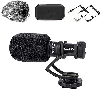 Comica CVM-VM10II Full Metal Compact On Camera Cardioid Directional Mini Shotgun Video Microphone for Smartphone iPhone,Hu...