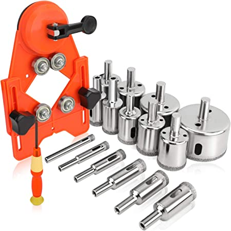 Details about  /30Pcs Diamond Holesaw Set Drill Bits Tile Glass Marble Ceramic Cutter Tools
