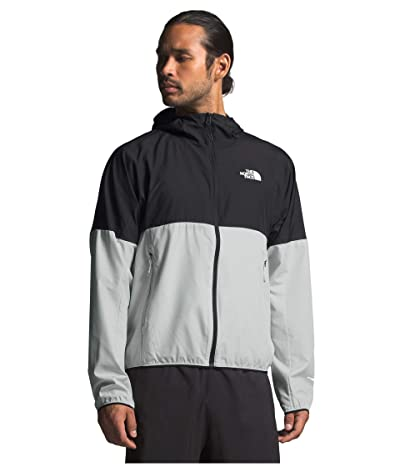 The North Face Flyweight Hoodie (Tin Grey/TNF Black) Men