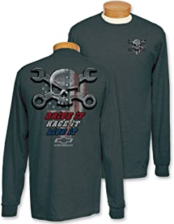 Charcoal Mr. Crosswrench American Flag; Drive It Long Sleeve T-Shirt