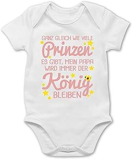 Shirtracer Sprüche Baby - Mein Papa Wird Immer der König bleiben - Baby Body Kurzarm für Jungen und Mädchen
