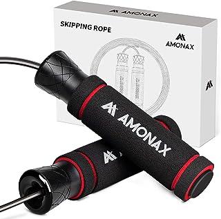 Amonax Springtouw voor volwassenen, springtouw voor mannen en vrouwen, snelheidstouw voor Crossfit training, thuis fitness...