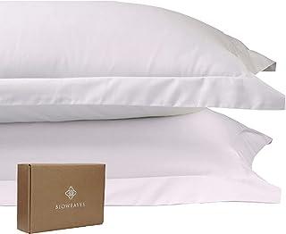 BIOWEAVES 100% Organic Cotton King Pillow Shams 300 Thread Count Soft Sateen Weave GOTS Certified – King Size, Set of 2, W...
