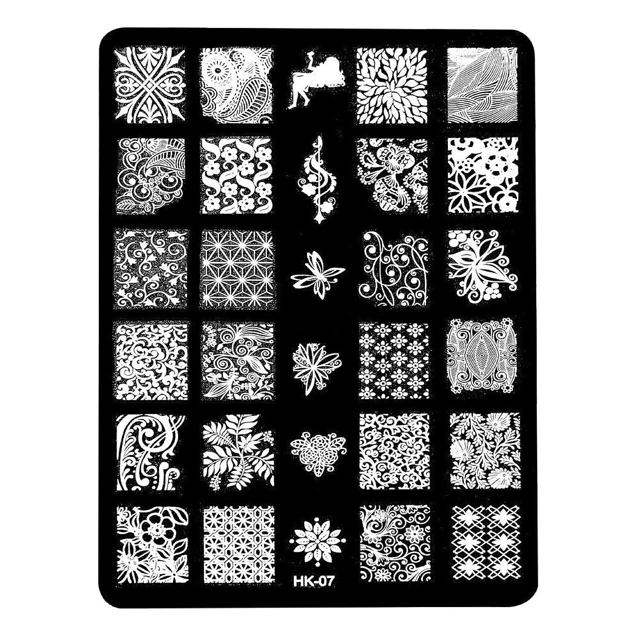 代替クラスオーク[ルテンズ] スタンピングプレートセット 花柄 ネイルプレート ネイルアートツール ネイルプレート ネイルスタンパー ネイルスタンプ スタンプネイル ネイルデザイン用品