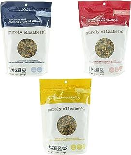 Purely Elizabeth Ancient Grain Granola Variety 3 Pack Original + Cranberry Pecan + Blueberry Hemp