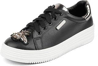 tresmode Womens Black Sneakers