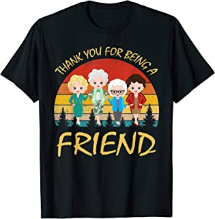 Thank You For Being A Golden-Friend Girls Vintage T-Shirt
