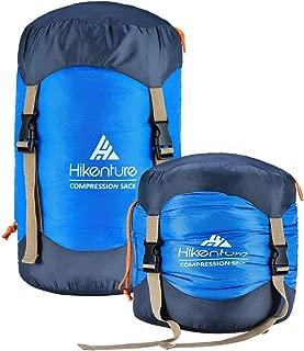 HIKENTURE Sleeping Bag Stuff Sack,Tear- Resistant Nylon Sleeping Bag Compression Sack, 10L/14L/20L/30L Waterproof Compression Bag,Outdoor Storage Bag for Backpacking,Hiking,Camping and Travel