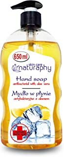 NATURAPHY Antibacterial Liquid Hand Wash, Lemon, 650 ml