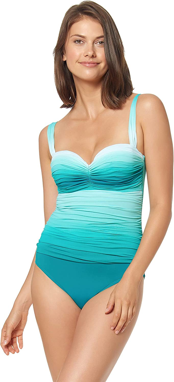 Bleu Rod Beattie Women's Good Hombre Shirred Underwire One Piece Swimsuit H19248