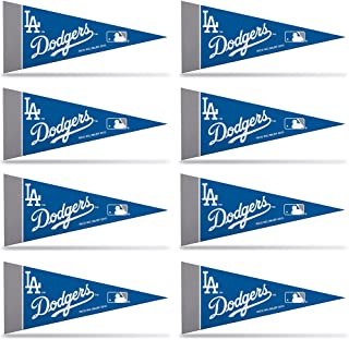 Rico Industries MLB Los Angeles Dodgers Pennant Mini 8 Piece, One Size, Team Colors