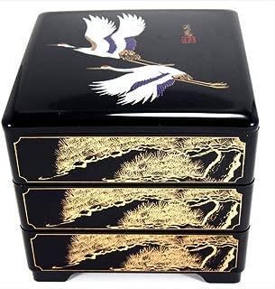 JapanBargain 4119 Japanese Stack Box, 7-3/4 x 7-3/4 x 8 in, Black