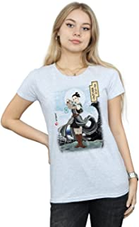 Star Wars Women's The Last Jedi Japanese Rey T-Shirt