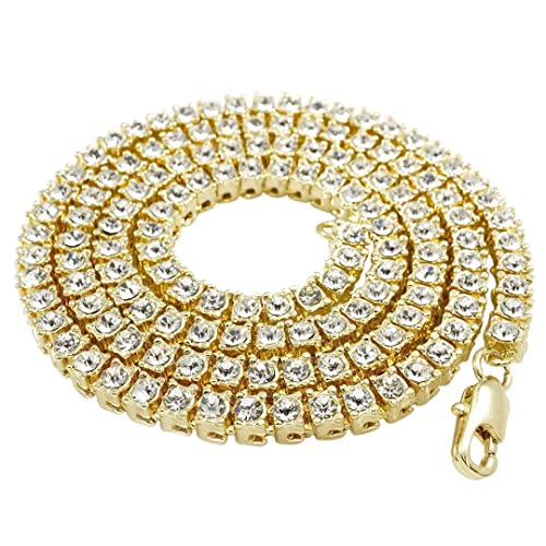 10mm 14k Gold Cz G Link Chain Hip Hop Jewelry King Ice >> Iced Out Gold Mens Chains Amazon Com
