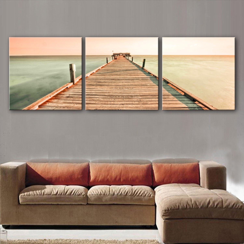 GaoRuiRuiL Küstendekorative Gemälde, rahmenlose Gemälde, Wohnzimmer Gang Dekorative Malerei, 40  40  3 B07H93HVH4 | Öffnen Sie das Interesse und die Innovation Ihres Kindes, aber auch die Unschuld von Kindern, kindlich, glücklich