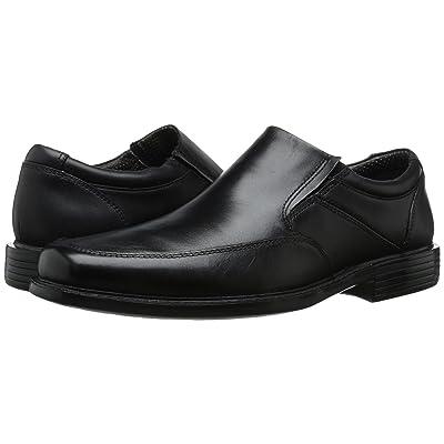 Dockers Park Moc Toe Slip-On (Black Polished Full Grain) Men