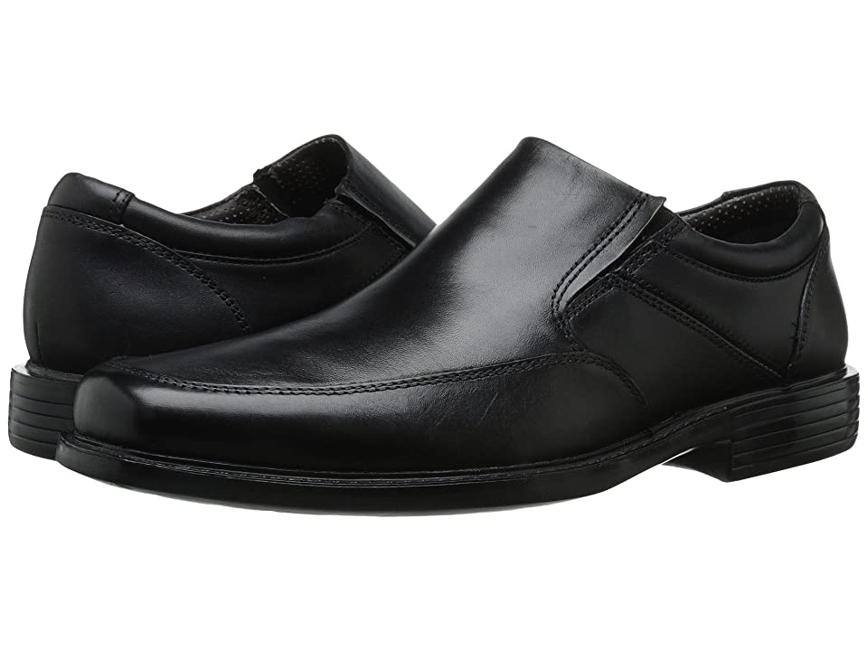 Dockers Park Moc Toe Slip-On (Black Polished Full Grain) Men's Slip-on Dress Shoes