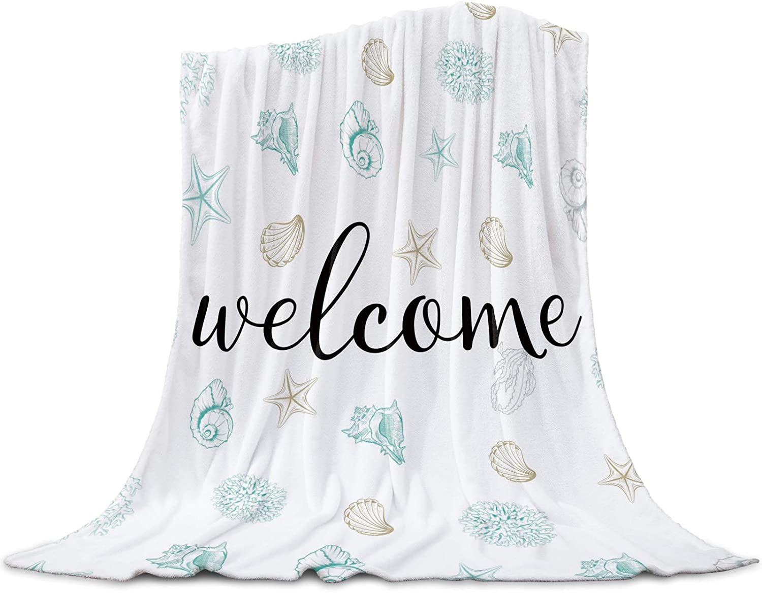 Ultra Soft Flannel Fleece 5% OFF Bed Max 84% OFF Blanket Coral Shell Creat Starfish