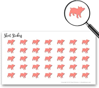 Farm Pig, Sticker Sheet 88 Bullet Stickers for Journal Planner Scrapbooks Bujo and Crafts, Item 1321170
